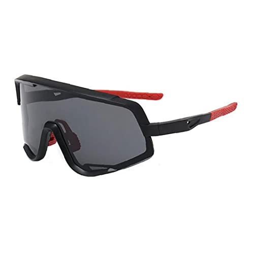 Gafas De Deportivas, Uv400 Retro Vista MTB Bike Glasses Anti- Niebla Y Conducción Viento Gafas De Montar Gafas De Gafas para Hombres Ciclismo Pesca Roja
