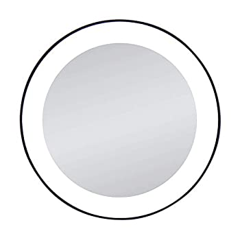 Zadro 15X Magnification Next Generation LED Lighted Suction Cup Mirror Black Silver Finish