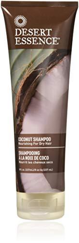 Desert Essence Coconut Shampoo - 8 Fl Ounce - Pack of 3 - Intense Moisturization - Healthy Hair - Restores Natural Luster - Coconut Oil - Jojoba Oil - Olive Oil - Cruelty-Free - No Parabens