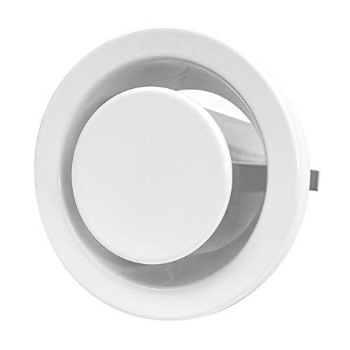Ø 100mm Abluft Tellerventil Abluftventil Stahlblech Weiß Rund für Rohranschluss Ø DIN 100mm