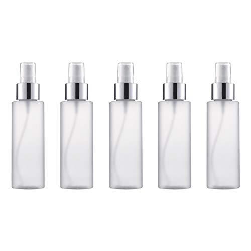 Mobestech 5Pcs Voyage Brume Vaporisateur Flacons de Parfum Distributeur de Parfum Polyvalent Vide Brume Bouteilles de Lotion Mini Vaporisateur 200 Ml (Blanc)
