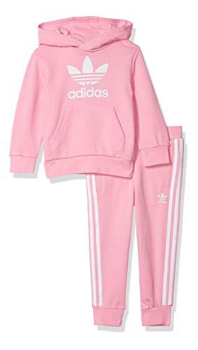 adidas Originals Conjunto de sudadera con capucha unisex para jóvenes - rosa - Large