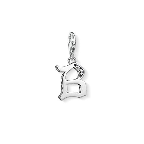 Thomas Sabo Damen-Charm-Anhänger B Buchstabe Silber Charm Club 925 Sterling Silber 1582-643-21