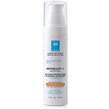 La Roche-Posay Anthelios 100% Mineral Sunscreen Moisturizer with Hyaluronic Acid Broad Spectrum SPF 30 Face Sunscreen with Zinc Oxide & Titanium Dioxide 1.7 fl oz.