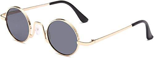 HNsusa Gafas de sol Vintage, pequeñas y redondas, gafas de sol para mujer, gafas de sol de marca, gafas de diseñador de lujo, tendencia femenina-4