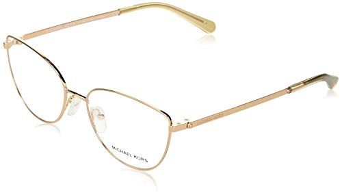 Michael Kors 0MK3030 Monturas de gafas, Shiny Rose Gold, 54 para Mujer