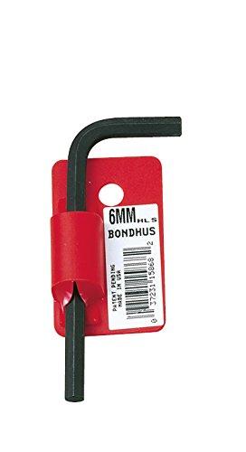 Starrett 15850 Cles coudees courtes a chanfrein metrique avec code barres, Rouge