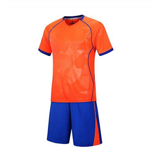 XIAOL Fußball 2018 Kinder Fußball Uniformen Männer Jungen Fußball Trikots Set Leere Fußballmannschaft Trainingsanzug Atmungsaktive Uniformen,Orange-30