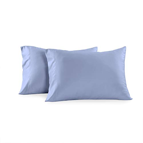 Royal Tradition 100 Percent Bamboo Pillowcases, Set of 2 Standard/Queen, Solid Periwinkle, Super Soft and Cool Bamboo Viscose Pillow Case Set