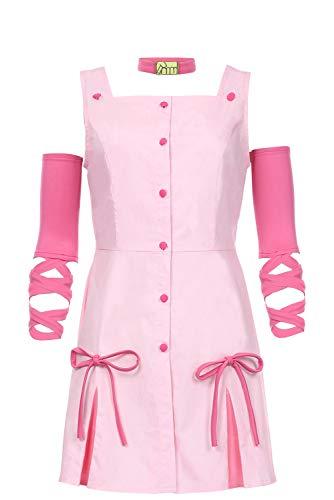 Womens Girls Reimi Sugimoto Cosplay Dress JoJo's Bizarre Adventure Costume Suit,Women,XSmall Pink