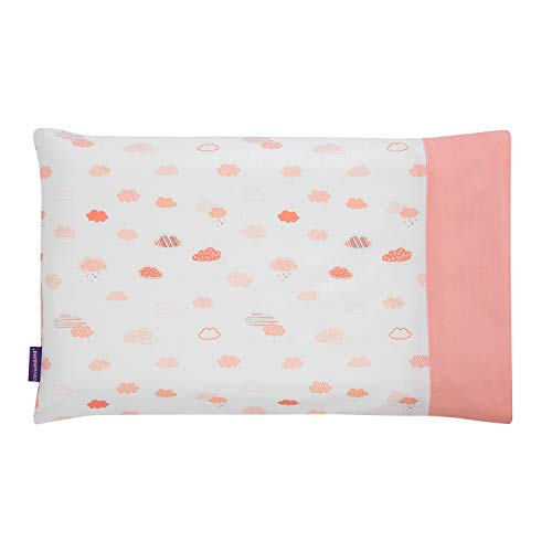 Clevamama Kinderkissen Kissenbezüge 100% Baumwolle- Korallen