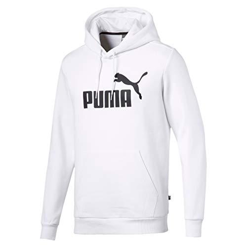 Puma ESS Hoody FL Big Logo Capucha, Hombre, Blanco White, M