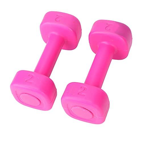 Mancuernas para mujeres, mancuernas para gimnasio, 10 kg, kit de pesas para gimnasio con revestimiento de neopreno, agarre cómodo, pesas para ejercicios con tecnología antivuelco y resistente al sudor