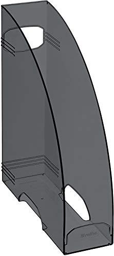 Rotho Timeless Stehsammler mit Griffloch, Kunststoff (PS) BPA-frei, anthrazit, A4 (29,8 x 24,2 x 8,2 cm)