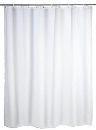 Hayrets DUSCHVORHANG Weiss EXTRA BREIT 250x200 Textil Badewannenvorhang Shower Curtain White