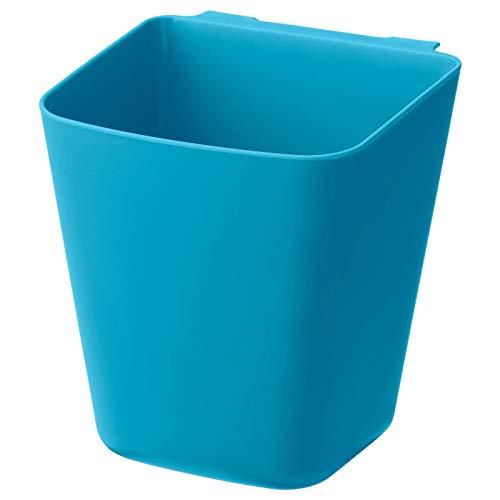 IKEA Sunnersta - Estante de pared para cocina, baño (1, 1 contenedor azul)