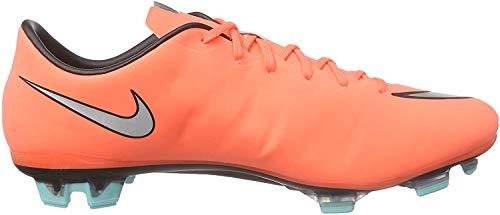 NIKE Herren MERCURIAL VELOCE II FG Fußballschuhe, Orange (Bright Mango/Hyper Turquoise/Metallic Silver), 44.5 EU