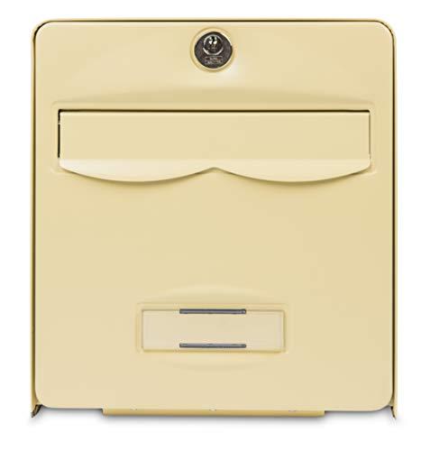 Burg-Wächter brievenbus gestandaardiseerd, staal, verzinkt, met deur om te openen, stopper, 2 deuren, BALthazar, beige