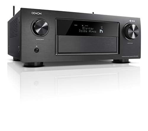 Denon AVRX4400H 9.2 Premium AV-Receiver (WLAN, Bluetooth, Amazon Music) silber + Polk Signature E Serie Lautsprecher-Set