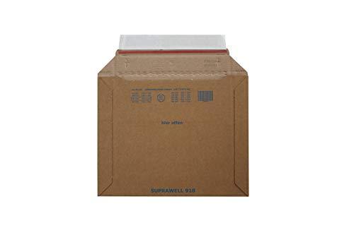 Carte Dozio - Sobres rígidos de cartón con apertura lado largo para envíos - Tamaño interior 252 x 202 mm - 25 unidades por paquete.