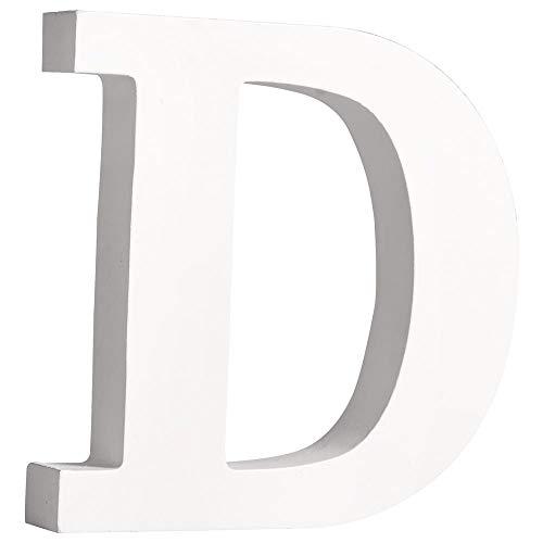 """Rayher 62655000 MDF- Buchstabe """"D"""", weiß, 11 cm, Stärke 2 cm"""
