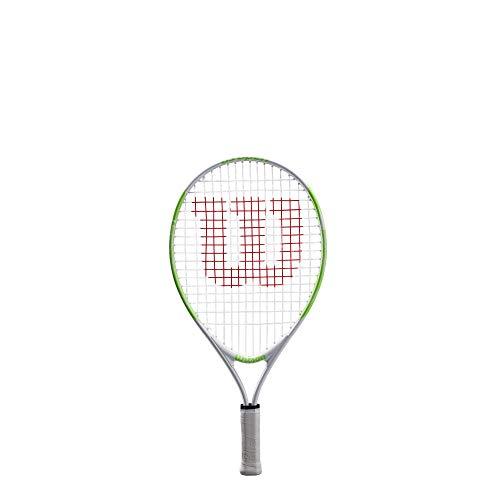 Raqueta de tenis Wilson Kids US Open 19, blanco / verde, altura de los niños: hasta 100 cm