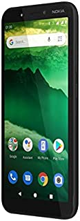 """NOKIA C1 Android Smartphone, 1GB RAM, 16 GB Memory, 5.45"""" FWVGA+, Google Assistant Button - Charcoal"""