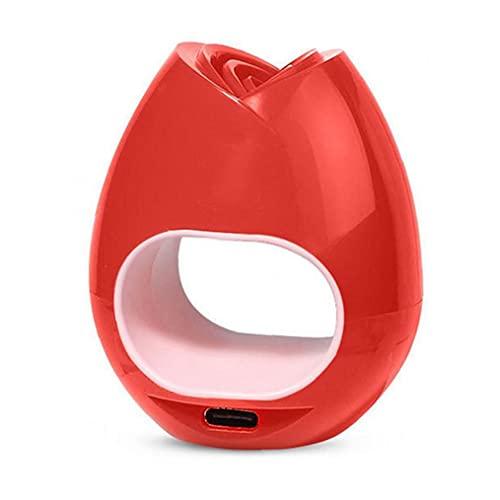 EElabper Secador del Clavo de la lámpara 16w fototerapia de luz Mini uñas Secadores Lámpara portátil de Secado rápido de la máquina de la hornada de la lámpara de uñas de Arte Rose Red