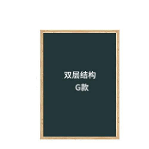 HMEI Tablón de dibujo creativo para pared con borde de madera, tablero de dibujo integrado, decoración de habitación de los niños, tablero de dibujo de graffiti, regalo (color: estilo G 120 x 90 cm)