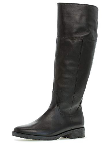 Gabor Damen Stiefel 32.799, Frauen Stiefel,Boots,Lederstiefel,Weitschaftstiefel,schwarz (Micro),38.5 EU / 5.5 UK
