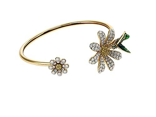 Kate Spade New York Dazzling Daisy Flex Cuff Bracelet Opal One Size