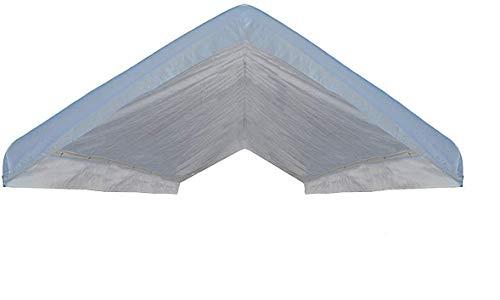 Heavy Duty Waterproof Valance Canopy Cover, White, 10' x 20'