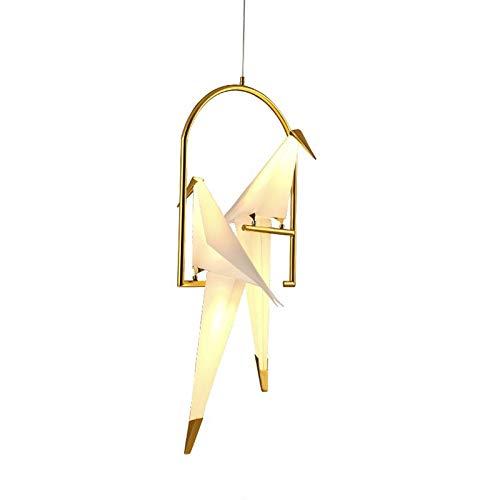 STHfficial Nordic Simple hanglamp bedlampje minimalistisch Mille groen van papier voor slaapkamer, industriële woonkamer