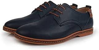SR trade-YUNTU Men's Business Shoes Leather Casual Men's Shoes Fashion Men's Flat Shoes Round Head Comfortable Office Men's Dress Shoes XL 38-48
