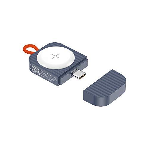 DolDer 2.5W Portable USB C Wireless Charger für Apple Watch, Kabellos Ladegerät Magnetisch Reiseladegerät für iWatch 6/5/4/3/2/1 (blau)