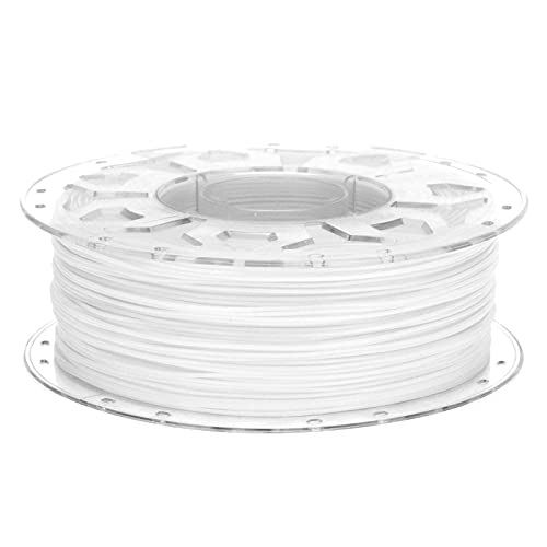3D Printer PLA Filament, Low Shrinkage High Toughness 1.75mm Printing Supplies Accessories Compatible with All 3D Printers(White)