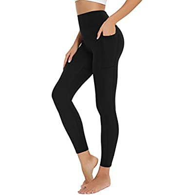 Amazon - 45% Off on  Womens Workout Leggings – Comfortable High Waist Yoga Pants with Pockets for Women