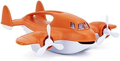 Green Toys Fire Plane - Pretend Play, Motor Skills, Kids Bath Toy Vehicle. No BPA, phthalates, PVC. Dishwasher Safe,...