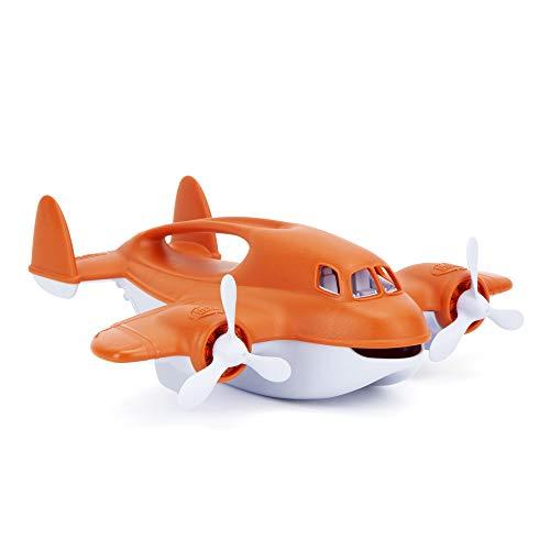 Green Toys Fire Plane - Pretend Play, Motor Skills, Kids Bath Toy Vehicle. No BPA,...