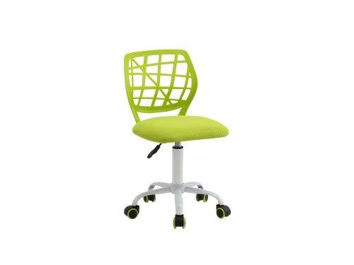 Sedia ergonomica colorata con altezza regolabile girevole a 360° ideale per bambini e ragazzi - Verde
