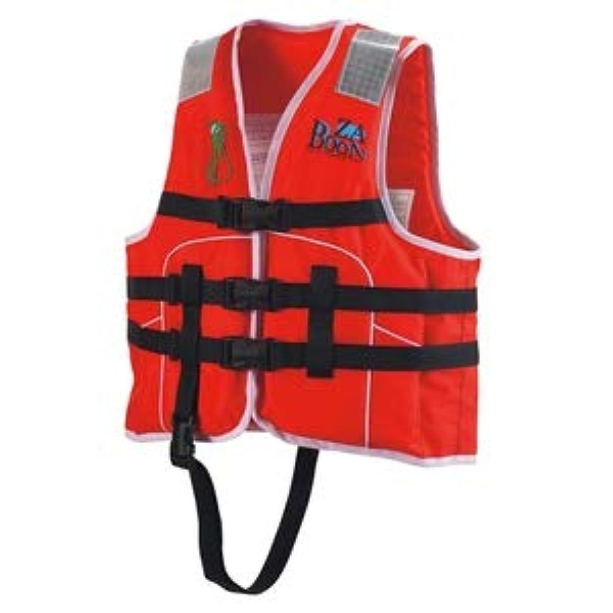 処理予備交換可能ocean life(オーシャンライフ) 国土交通省型式承認ライフジャケット 小型船舶小児用救命胴衣 Jr-1S型 Sレッド