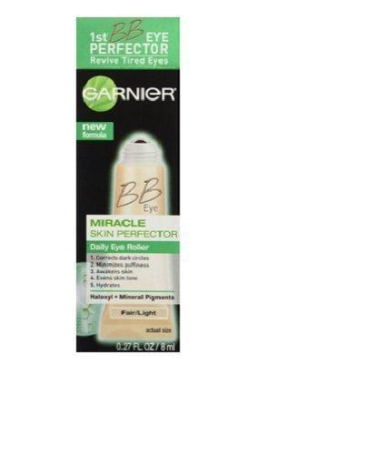 Garnier Skin BB Eye Miracle Skin Perfector Eye Roller, Fair/Light .27 oz. (Pack of 3)