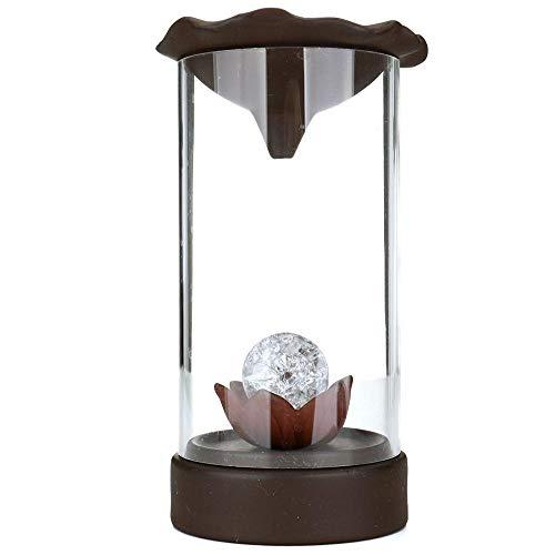 LED Backflow Weihrauchbrenner, Rückfluss Räuchergefäß,Räuchergefäßhalter mit 10 Stück Räucherkegel für Zuhause Dekoration Geschenk