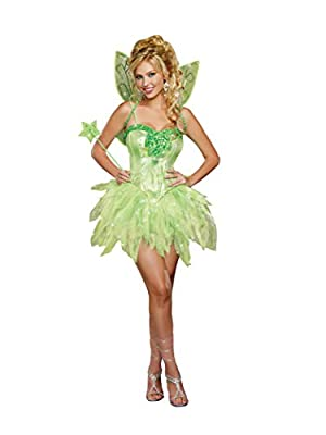 Dreamgirl Women's Fairy-Licious Costume, Green, X-Large