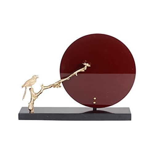 jinyi2016SHOP Decoración de Escritorio Nuevo Zen Chino Vino Rojo Decoración de Escritorio Creativo Sala de Estar TV Mueble Estudio Decoración de Escritorio Artesanía decoración para el hogar, Oficina