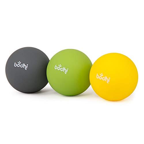 BODHI 3er Set Massage-Ball Ø ca. 6,5 cm, zur punktuellen Selbstmassage für Muskeln und Faszien, bei Verspannungen oder für die Regeneration nach dem Sport