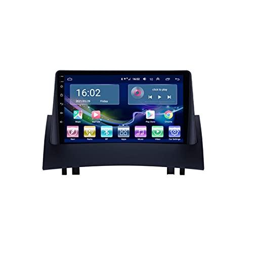 Auto Radio Stereo Sat nav Per Megane 2 2004-2008 Android 10.0 GPS Navigazione Multimedia Video Player Supporto 4G+Wifi/SWC/Carplay/Bluetooth/DSP/Touch Screen/mirror link,8 Core 4G+WiFi: 3+32GB