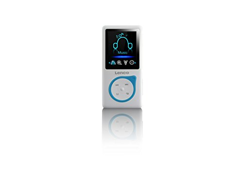 Lenco MP3-Player Xemio-668-B MP3-MP4-Player, 8 Gb Micro SD-Karte Inklusive kopfhörer - Blau