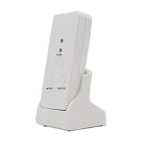 ZoSiP Bureau Electronique Lecteurs de Codes Barres Barcode Scanner Support Durable Bluetooth Une Dimension avec Support De Chargeur Barcode Scanner (Color : White, Size : 10x4x1.8cm)