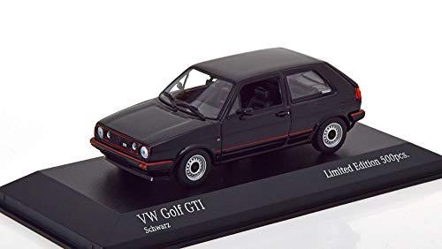 Minichamps Volkswagen VW Golf II GTI Baujahr 1985 schwarz 1:43